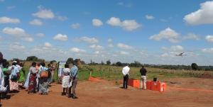 VillageReach and Vayu conducting community sensitization in Malawi