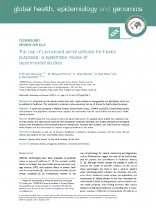 The use of unmanned aerial vehicles for health purposes: a systematic review of experimental studies