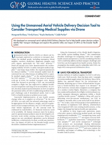 Using the Unmanned Aerial Vehicle Delivery Decision Tool to